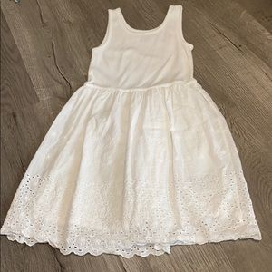 Girls Gap White Sleeveless Summer Dress